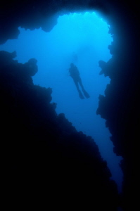 'Canyon' near the Blue Hole, Dahab by Paul Colley 